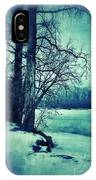 Snowy Woods By A Lake IPhone Case