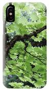 Soft Green Leaves IPhone Case