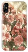 Soft Red Mums IPhone Case