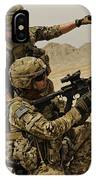 Soldier Directing A Fellow Soldier IPhone Case