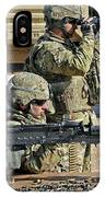 Soldier Firing A M240b Machine Gun IPhone Case