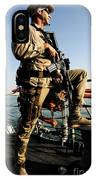 Soldier Stands Watch Aboard Uss Momsen IPhone Case