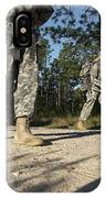 Soldiers Conduct A Ruck March At Fort IPhone Case