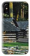 Soldiers Quarters At Valley Forge IPhone Case