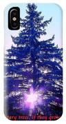 Solitary Trees Poster IPhone Case