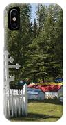 Spirit Houses Of Eklutna IPhone Case
