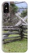 Split Rail Fence IPhone Case
