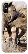 Spotted Hyena Greeting Ritual IPhone Case