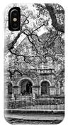 St. Charles Ave. Mansion Monochrome IPhone Case