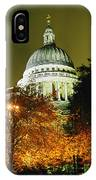 St Pauls Cathedral At Night With Trees IPhone Case