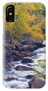 St Vrain Canyon And River Autumn Season Boulder County Colorado IPhone Case