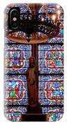 Stained Glass At Notre Dame Cathedral IPhone Case