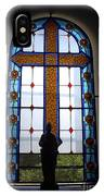 Stained Glass Cross Window Of Hope IPhone Case