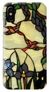 Stained Glass Humming Bird Vertical Window IPhone Case