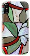 Stained Glass Wild  Flowers IPhone Case