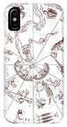 Star Map From Kirchers Oedipus IPhone Case