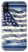 Star Spangled Banner Blue IPhone Case