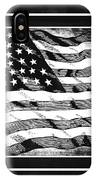 Star Spangled Banner Bw IPhone Case