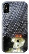 Star Trails Over Parkes Observatory IPhone Case