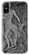 Statue 17 Black And White IPhone Case