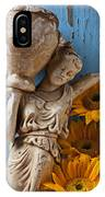 Statue Of Woman With Sunflowers IPhone Case