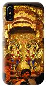 Statues Of Ram And Lakshman And Sita At The Iskcon Temple In Delhi IPhone Case