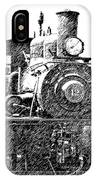 steam Engine pencil sketch IPhone Case