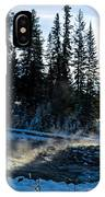 Steaming River In Winter IPhone Case