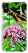 Stencilled Butterfly IPhone Case