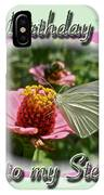 Stepmother Birthday Greeting Card - Butterfly On Flower IPhone Case