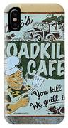 Steves Roadkill Cafe IPhone Case