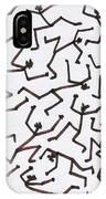 Stickmen Characters Nine Eleven Two Thousand Ten IPhone Case
