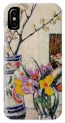 Still Life With Flowers In A Vase   IPhone Case
