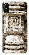Stone Carvings In An Indain Temple IPhone Case