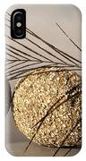 stone fish - A a peacock feather and four pebbles become a sea creature in artist mind IPhone Case