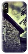 Stone House In Storm IPhone Case
