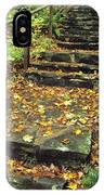 Stone Stairway In Forest, Cape Breton IPhone Case