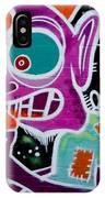 Strange Graffiti Creature Eating Sausages IPhone Case