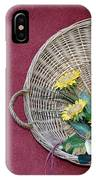 Straw Basket With Flowers IPhone Case