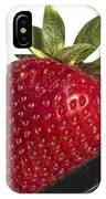 Strawberry On A Black Spoon Against White No.0003 IPhone Case