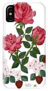 Strawberry Wine And Roses IPhone Case