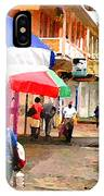 Street Scene In Rosea Dominica Filtered IPhone Case