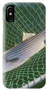 Striped Bass In Net.  The Fish IPhone Case