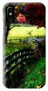 Strolling Down The Old Country Road IPhone Case