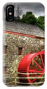Sudbury - Storm Looms At The Grist Mill IPhone Case