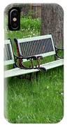 Summer Bench And Dandelions IPhone Case by Lorraine Devon Wilke