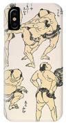 Sumo Wrestlers, 1817 IPhone Case