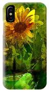 Sunflower 4 IPhone Case