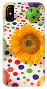 Sunflower And Colorful Balls IPhone Case