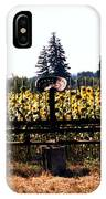 Sunflower Farm Scene IPhone Case